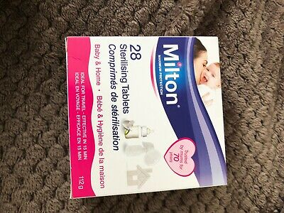 Milton Sterilising Tablets 28 Brand New Box Exp Date 06/2022