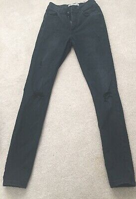 2 Pairs Girls Black Skinny Jeans - New Look & Primark Age 13 Yrs & Size 4