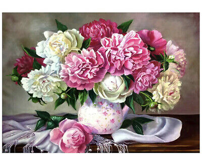 Diamond Painting Set Vase Blumen 40x30 Cm Neu Ovp