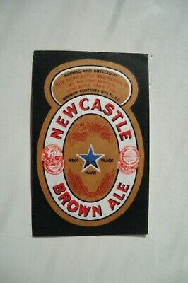 Mint Newcastle Brown Ale Brewery Beer Bottle Label
