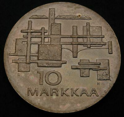 FINLAND 10 Markkaa 1967 S H - Silver - 50th Anniversary of Independence - 1023