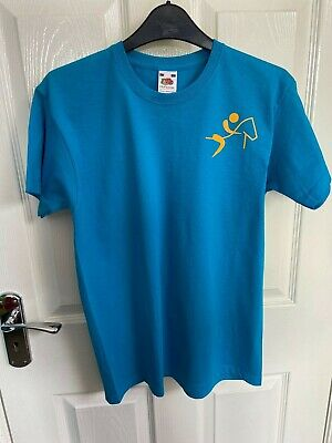 Blue Jockey and Horse Graphic T-Shirt Age 12-13