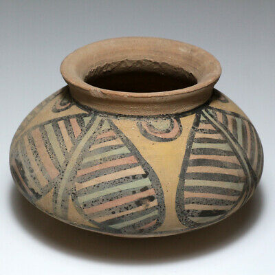 Very Rare Ancient Intact Indus Valley Terracotta Pot 1900-1000 Bc