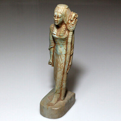 Very Rare Egyptian Stone Statue Of Cleopatra - Sculpture Circa 1400-1600 Ad