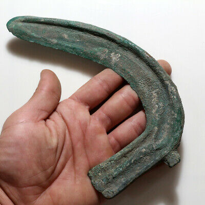 Scarce-4500 Years Old Ancient Greek Bronze Age Bronze Sickle,Scythe 2500-1500 Bc
