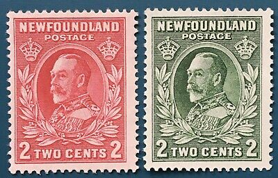 Lot12 Newfoundland Stamps 185&186 MH