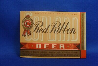 Canada Beer Label - Red Ribbon , Copland, Toronto
