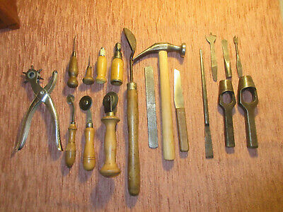 ALTES LEDER WERKZEUG Schuster Sattler Buchbinder LEATHER WORKER/COBBLER TOOLS