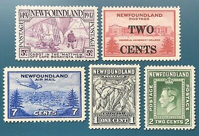 Lot12 Newfoundland Stamps MH