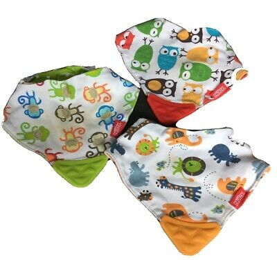 3 Nuby Bandanna Teething Bibs