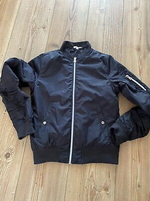 Girls Black Bomber Jacket Age 11 - 11