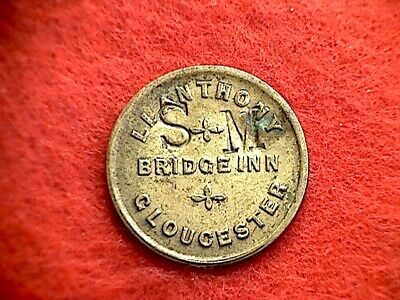 Bridge Inn Gloucester 1-1/2d Pub Token