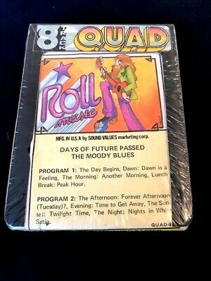8 TRACK TAPE Moody Blues DAYS OF FUTURE PASSED quad SEALED