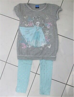 George Frozen Sparkly Sequin Top & Legging Outfit Set ~ Age 6 - 7 ~ Vgc