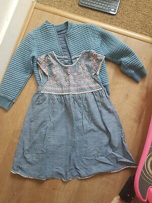 Next Girls Dress And Jacket 5-6y