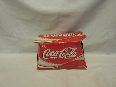 "4 Small Unopened Cans of Japanese Coca Cola In Cardboard Carton 160 ml 3.5"" Can"