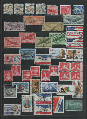 U.S.A. Old Used Airmail Stamps