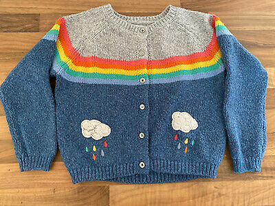 Next Toddler Girls Knitted Rainbow Cardigan Age 3-4yrs
