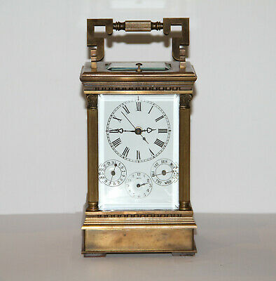 Brass Repeater Carriage Clock With Key