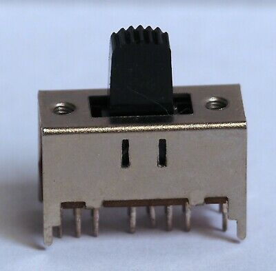 Slide switch, 3 position, panel or PCB mount.