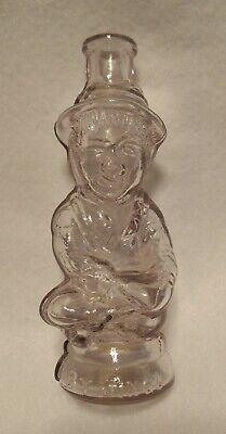 Antique Glass Figural Cologne Bottle embossed BY JINGO