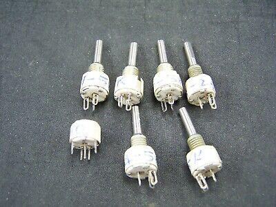 Vintage New Old Stock Mallory Miniature Variable Resistors Rheostats Radio Parts
