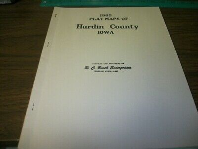 1985 Plat Map for Hardin County Iowa
