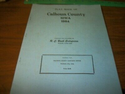 1984 Plat Book of Calhoun County Iowa
