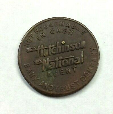 Hutchinson Nation Bank & Trust Company Kansas Coin Parking Token - Vintage