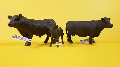 Schleich Angus Bull 13282 Calf 13270 Cow 13767 Animal Figure