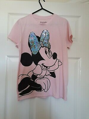 Girls Lovely Pink Minnie Mouse Abercrombie Kids T.shirt Age 12/13