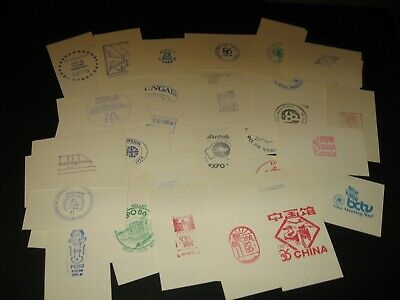Set of 50+ Pavilion Stamps on cards - EXPO 86 Vancouver Canada
