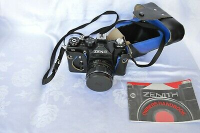 Zenith Zenit 11 Russian 35mm Camera With 44M Helios Lens And Original Case