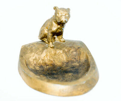 1930s AUSTRIA METAL FRENCH BULLDOG VANITY COIN TRAY