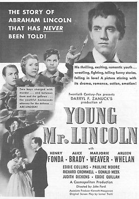 Young Mr Lincoln Movie Poster 8X10 Reproduction Photo