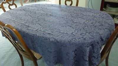 Table cloth - Navy blue damask - 56 x 83 Rectangle/oval