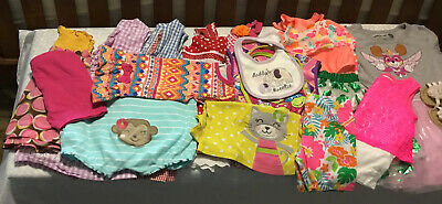 Lot Of 15 Toddler Girl Summer Clothes By Carters, Healthtex And Others