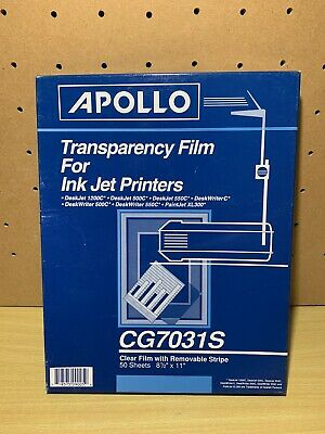 Apollo® Quick-Dry Color Inkjet Transparency Film w/Handling Strip 718575090059