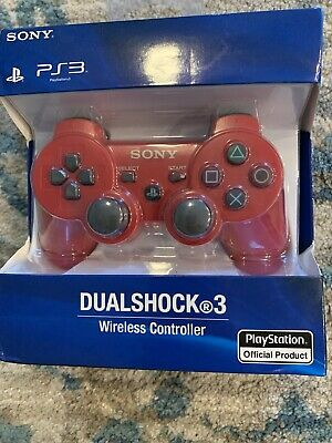 Sony PlayStation Dualshock 3 Controller - RED OFFICIAL - Brand New - Ps3