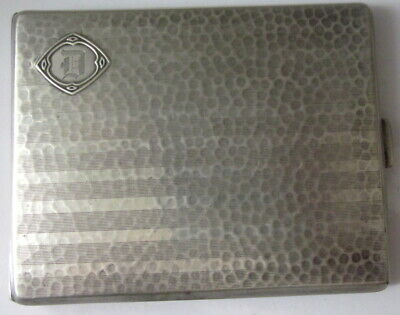 antique Sterling Silver cigarette case hallmarked G. H. French & Co.
