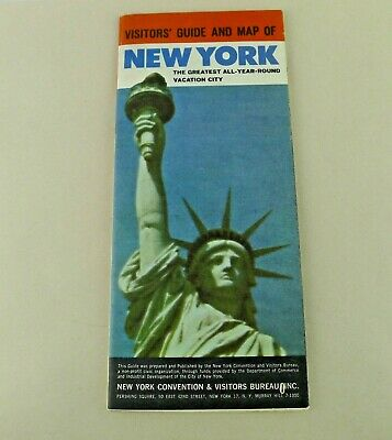 Vintage 1964 New York City Visitors' Guide And Map World's Fair Ad