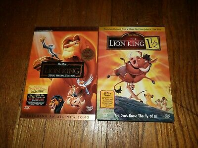[ The Lion King ] and [ The Lion King 1 1/2 ](DVD, Collectible...