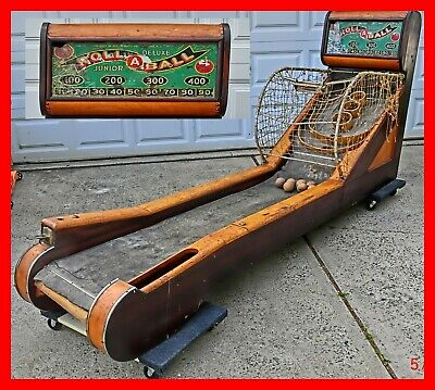 SKEE- ROLL a BALL Huge Vintage Game made in 1936 - 9 ft long