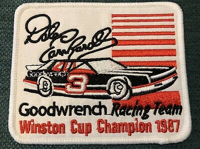 Vintage Nascar Racing Hat Iron Patch Dale Earnhardt Sr. Goodwrench Chevy Retro
