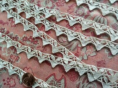 "THIN Antique French vintage Lace  Trim BOBBIN  2 YARDS +32"" TORCHON cotton"