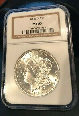 1888 O Morgan Silver Dollar NGC MS63