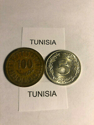Miscellaneous Circulated Coins From Tunisia