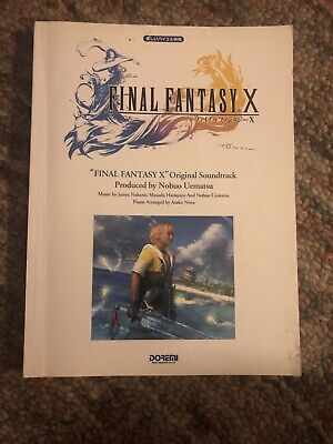 Final Fantasy X 10 Original Soundtrack Piano Sheet Music Collection Book