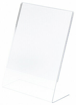 "Plymor Clear Acrylic Sign Display / Literature Holder (Angled), 8.5"" W x 11"" H"
