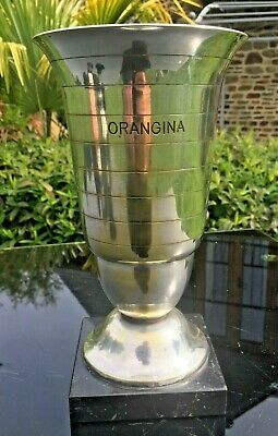 Vintage Silver Plated Trophy Cup Loving Cup French Trophies Engraved Orangina